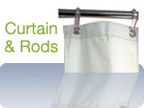 Weighted Shower Curtains and Rods