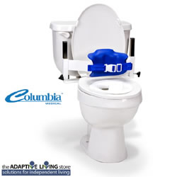 Heavy Duty Lo-back Stainless Steel Toilet Support