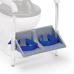 Footrests with brackets for Columbia Heavy Duty Toilet Support System
