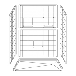 "Best Bath 60"" x 36"" Barrier Free Shower for safe bathing and accessibility"
