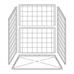 "5LES6048FB1B Best Bath 60"" x 48"" Barrier Free Shower for Accessible Bathroom Remodeling"