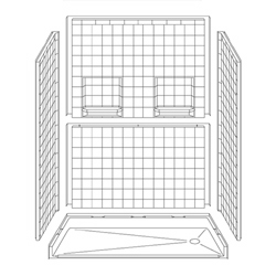 Best Bath 60 x 30 Barrier-Free Shower 5LRS6030E75B