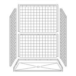 5LRS6030FB75B Best Bath Systems Barrier-Free Accessible Shower 60 x 30