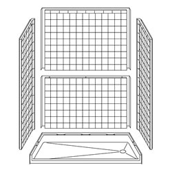 "60"" x 33"" Barrier Free Shower Accessibility Remodeling 5LRS6033FB17T"
