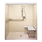 Barrier Free ADA Compliant Showers for Transfer and Roll-In