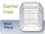 Barrier-Free Multi Piece Shower