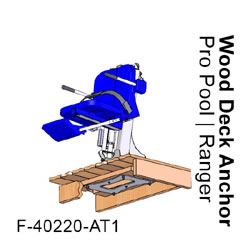 Pro Pool Lift Wood Deck Anchor F-40220-AT1