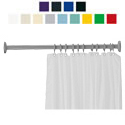 "Ponte Giulio Polycolor 48"" Straight Shower Curtain Rod"