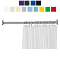 "Polycolor 43-1/4"" + 43-1/4"" Shower Curtain Rod"