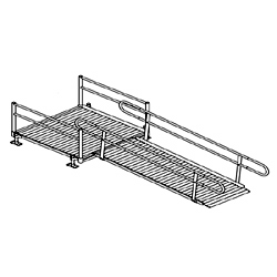 Aluminum Modular Straight Platform with Ramp Kit
