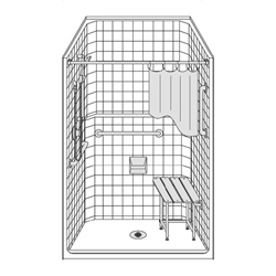 "42"" x 36"" Barrier Free Walk in Shower LCS4236B5T"
