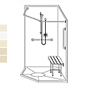 "Best Bath 42"" x 42"" Barrier-Free Neo-Angle Shower LSNS4242RB15T"