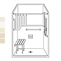 48x36 Barrier-Free Accessible Shower Unit LSS4836B5T