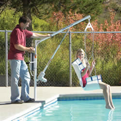 Aqua Creek Products F-PEZPL2 Power EZ 2 Pool Lift Residential Pool Accessibility