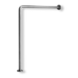 Ponte Giulio Satin-Stainless Steel 90° Wall-to-Floor Grab Bar