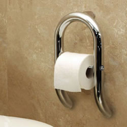 HealthCraft Invisia Toilet Paper Holder Designer Grab Bar