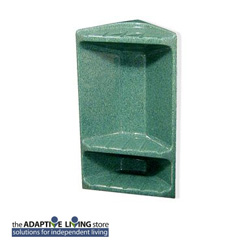 Diamond Faux Marble Surface Mount Corner Shower Caddy