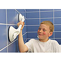 Mobeli Handi-Grip Fixed Length Kid Grip Portable Grab Bar with Suction Indicator