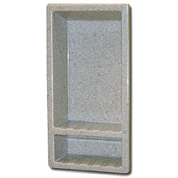 Collection Faux Marble Recessed Shampoo Caddy