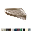 Pearl Surface Mount Triangular Faux Marble Corner Soap Shelf