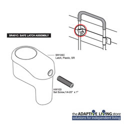 Safe Latch Assembly Smart Rail SR401C