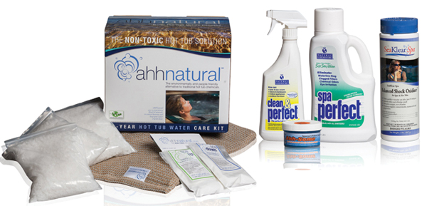 chemical free hot tub start up pack