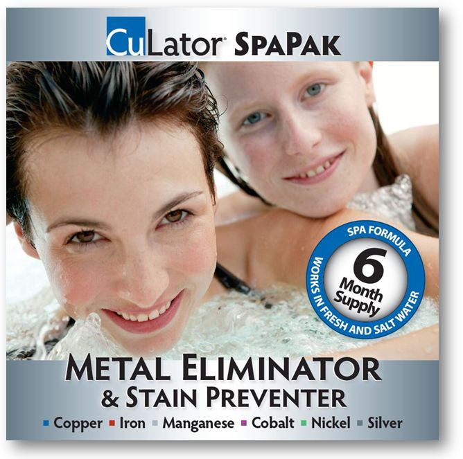 CuLator SpaPak Metal Eliminator and Stain Preventer