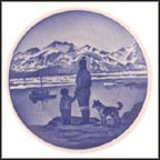 On the Lookout, Greenland, Royal Copenhagen Plaquette #43