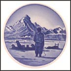 Dogsled in Greenland, Royal Copenhagen Plaquette #44