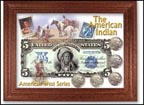 American Indian Buffalo Nickel and Indian Cent Collector Frame THUMBNAIL