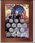 Wartime Coinage Jefferson Nickel Collector Frame THUMBNAIL
