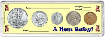 1940 A New Baby! Coin Gift Set THUMBNAIL