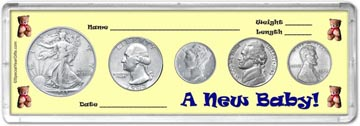 1943 A New Baby! Coin Gift Set THUMBNAIL