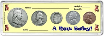1949 A New Baby! Coin Gift Set THUMBNAIL