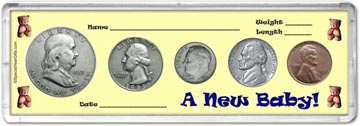 1953 A New Baby! Coin Gift Set THUMBNAIL