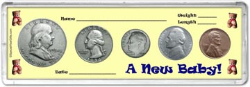 1954 A New Baby! Coin Gift Set THUMBNAIL