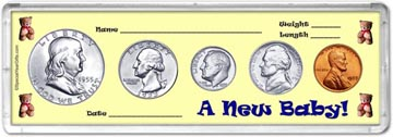 1955 A New Baby! Coin Gift Set THUMBNAIL
