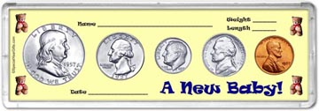 1957 A New Baby! Coin Gift Set THUMBNAIL