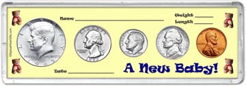 1965 A New Baby! Coin Gift Set THUMBNAIL