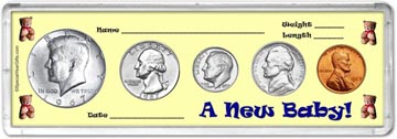 1967 A New Baby! Coin Gift Set THUMBNAIL