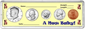 1970 A New Baby! Coin Gift Set THUMBNAIL