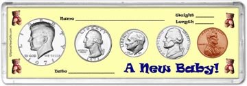 1971 A New Baby! Coin Gift Set THUMBNAIL