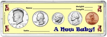 1973 A New Baby! Coin Gift Set THUMBNAIL