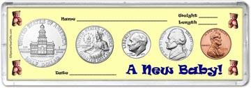 1975 A New Baby! Coin Gift Set THUMBNAIL