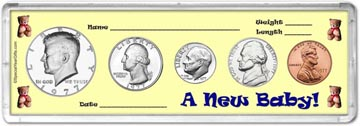 1977 A New Baby! Coin Gift Set THUMBNAIL