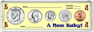 1989 A New Baby! Coin Gift Set THUMBNAIL
