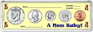 1991 A New Baby! Coin Gift Set THUMBNAIL