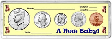 1995 A New Baby! Coin Gift Set THUMBNAIL