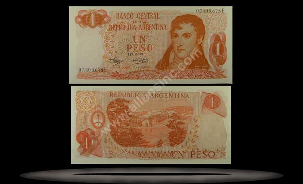 Argentina Banknote, 1 Peso, ND (1970-73), P#287