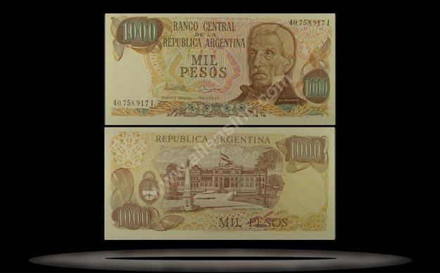 Argentina Banknote, 1000 Pesos, ND (1976-82), P#304d